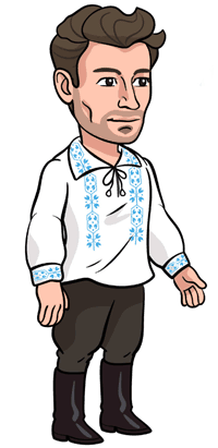 About VladTalks.tech - Vlad and his blouse.