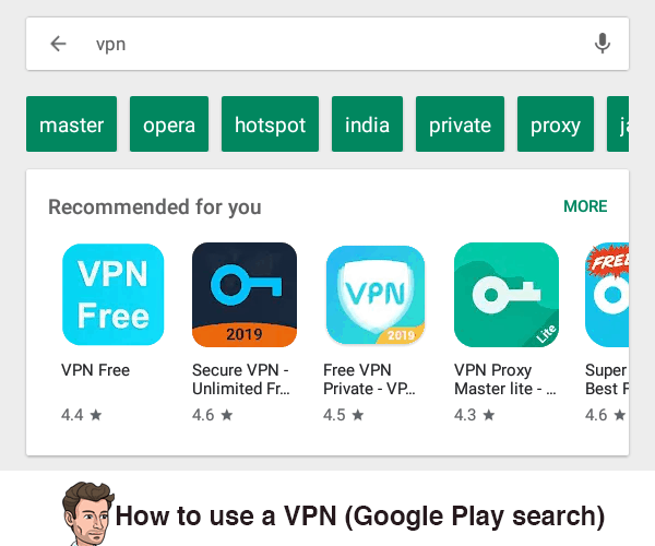 Image showing VPN search on Google Play