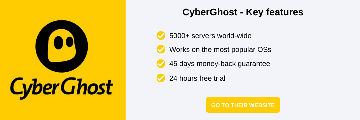 CyberGhost Black Friday VPN deals and a short list of key features