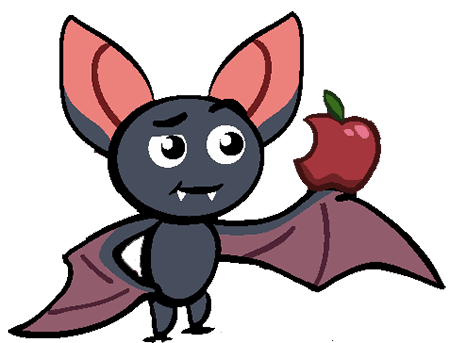 To use a VPN on iOS or not? TomBat has an apple in his hand.