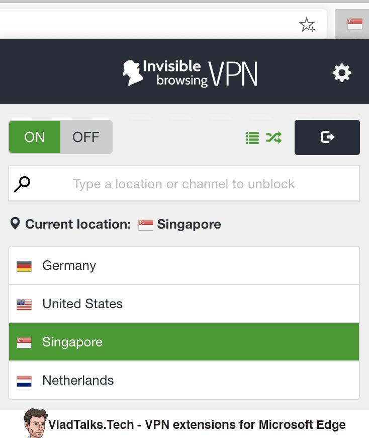 VPN extensions for Microsoft Edge - ibVPN