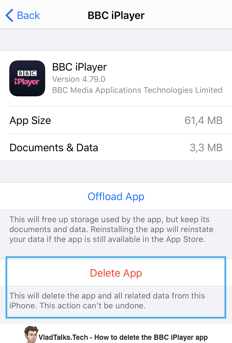 How to delete the BBC iPlayer app and its data