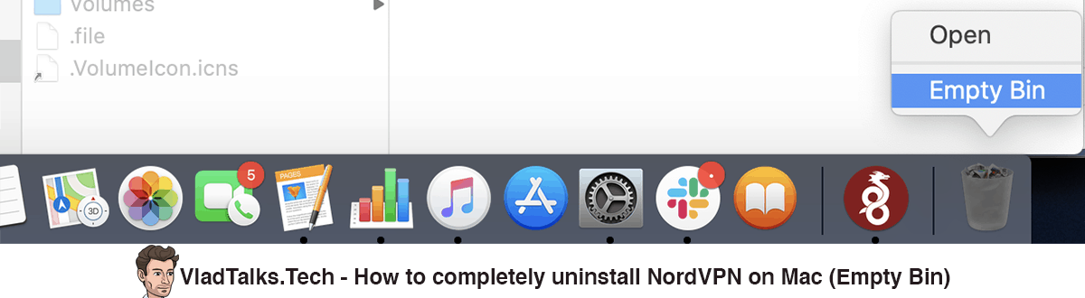 How to completely uninstall NordVPN on Mac - Empty Bin