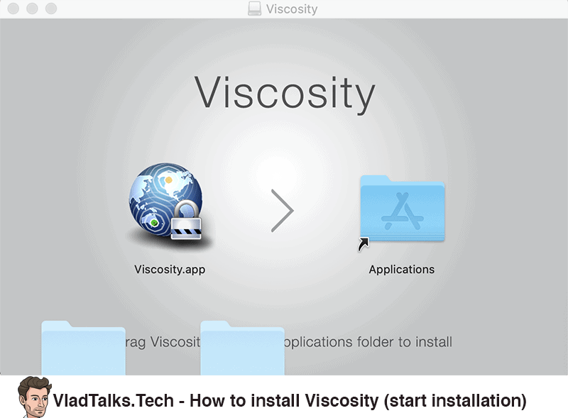 How to install Viscosity - Start installation