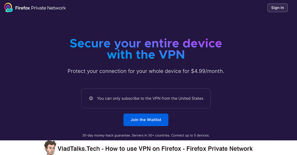 How to use VPN on Firefox - get Firefox Private Network