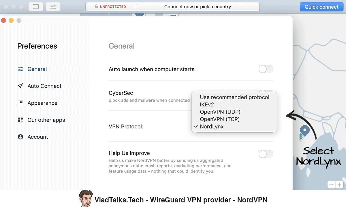 NordVPN - WireGuard VPN provider