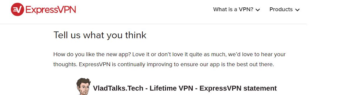 Lifetime VPN subscription - ExpressVPN statement on continuous updatees